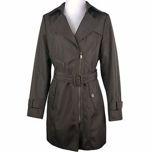 Andrew Marc Brown Trench Coat w/ Removable Liner
